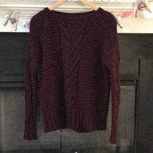 Knit wine sweater